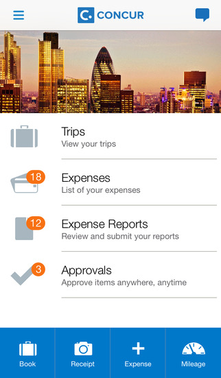 Concur - Travel Receipts Expense Reports