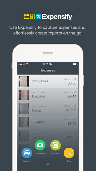 Expensify - Expense Reports Receipts Mileage Time Entry Travel