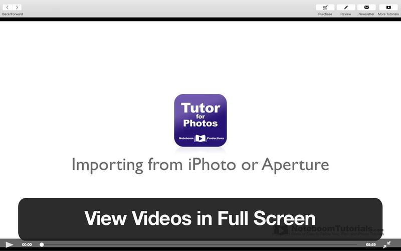 Tutor for Photos for Mac
