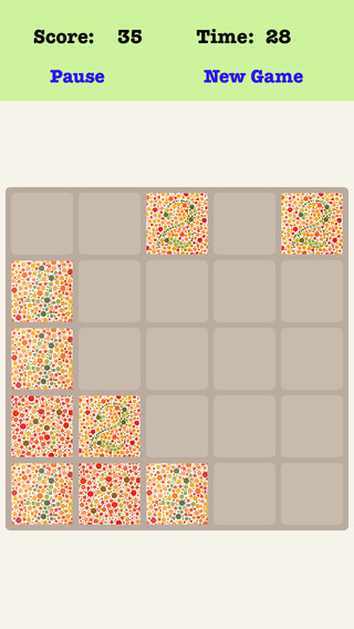 Color Blind 5X5 - Sliding Number Tiles Playing With Piano Sound