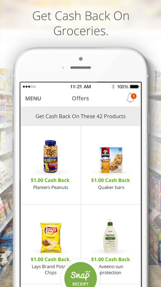 Snap by Groupon - Better than a Coupon Sales Discount or Rebate - Cash Back on Grocery Items