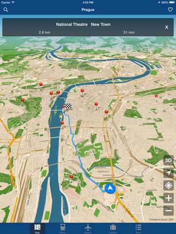 Prague Offline Map - City Metro Airport Screenshots