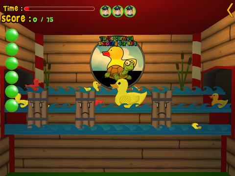 Turtles carnival shooting for kids iPad Screenshot 4