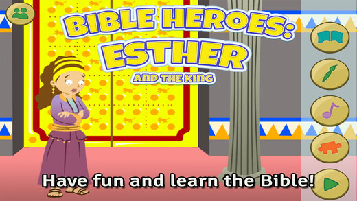 Bible Heroes: Esther and the King - Bible Story Coloring Singing Puzzles and Games for Kids