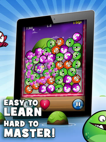 Screenshots of Mooniz Pro - Tapping and Matching Little Moon Monsters With Friends for iPad