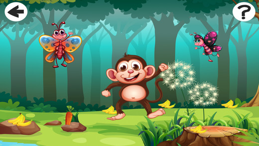 Animals in the Forest in one Crazy Kid-s Game Learn Play