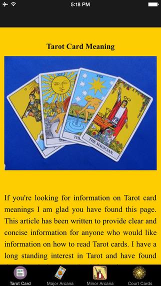Tarot Card Meaning - Major Arcana Minor Arcana Court Cards