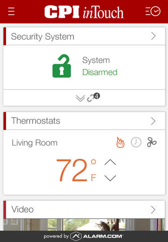 CPI Security inTouch screenshot 1