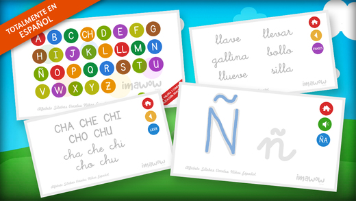 Learning the Alphabet the syllables and vowels in Spanish for Kids - Reading and writing - Literacy