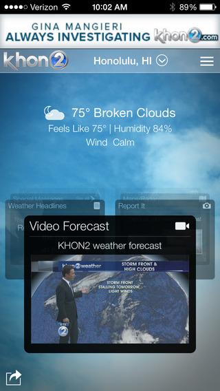 KHON2 WX - Radar Forecasts