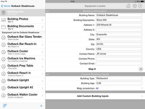 HVAC Equipment Locator iPad Screenshot 3