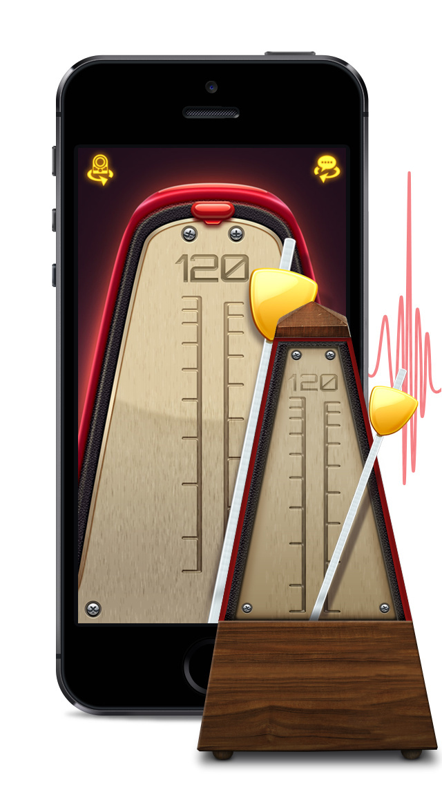 Real Metronome Free - precise music bpm tempo keeping and click track app for musicians