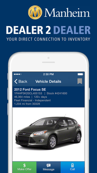 Screenshots for Manheim Dealer 2 Dealer