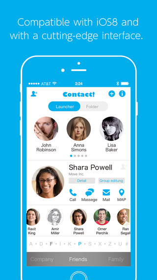 Contact - The fun and easy-to-use contact launcher(This contacts app lets you easily create groups l