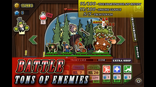 Tap Heroes - Idle Grinder Clicker Game - Defeat Critters Levelup Gather XP and Increase Stats