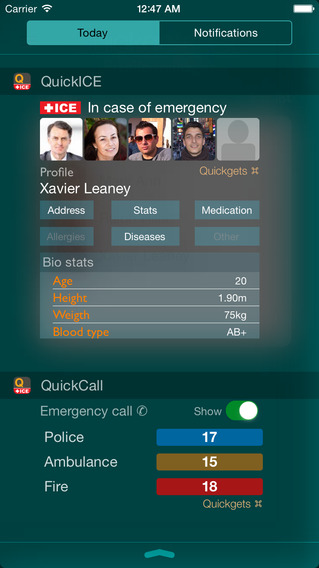 Quickgets ICE - In Case of Emergency info call widgets and app