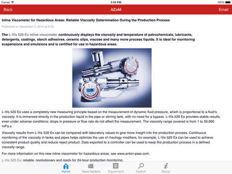 AZoMaterials -The A to Z of Materials from AZoM.com iPad Screenshot 2
