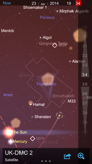 Screenshots for Star Chart for iOS