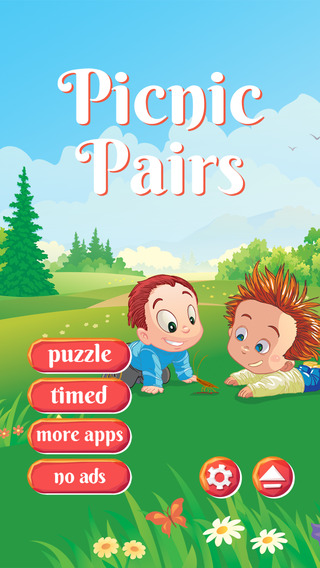 Picnic Pairs - HD - FREE - Link Matching Park Meadow Cute Critters Line Puzzle Game