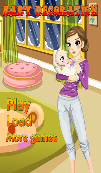 Baby Decoration – game for little children about newborn baby
