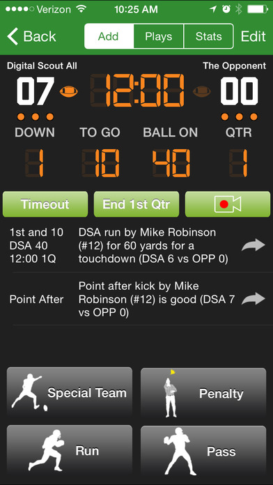 Football Statware iPhone Screenshot 1