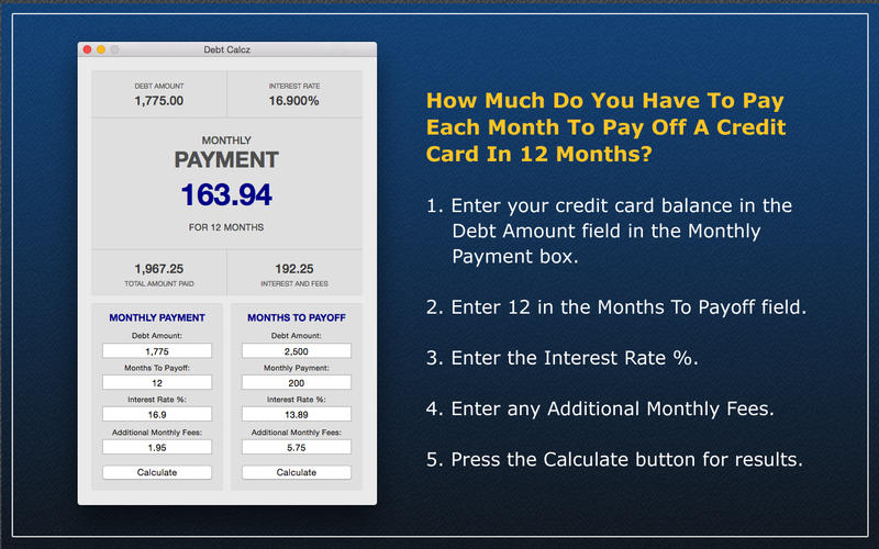 Debt Calcz Screenshot - 2