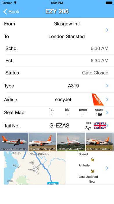 Glasgow Airport - iPlane iPhone Screenshot 2