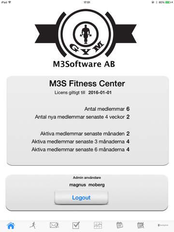 M3Software FitnessCenter Admin