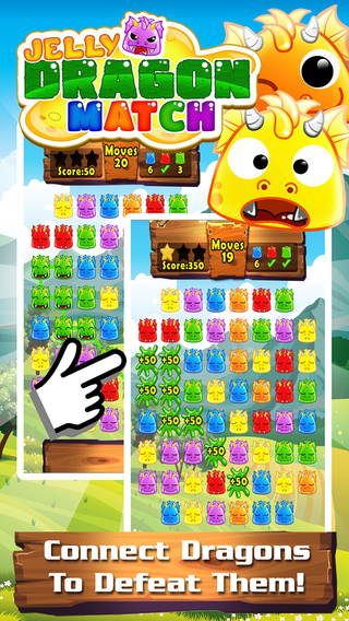 Jelly Dragon Pop Premium - Castle Blitz Match 3 Puzzle Game