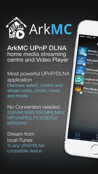 ArkMC DLNA UPnP Media Center streaming server and video player