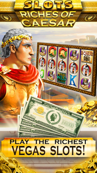 Slots Riches of Caesar VIP Vegas Slot Machine Games - Win Big Bonus Jackpots with the Fortune of a R