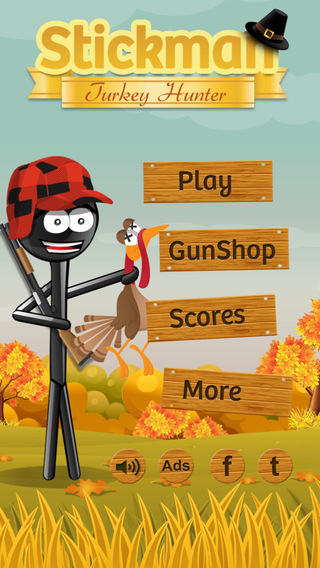 【免費遊戲App】Stickman Turkey Hunter - a Thanksgiving Shooter!-APP點子