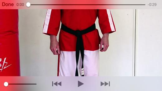 Brown White Belt Kick Jutsu