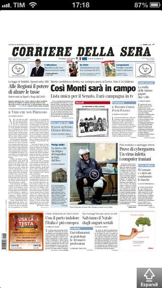 Corriere della Sera - Digital Edition per iPhone