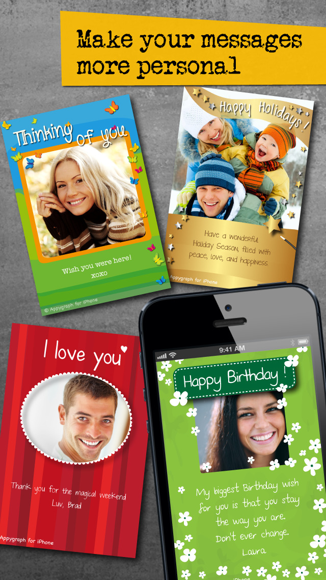 Appygraph eCards - Birthday Greeting Cards and Love Messages for Valentine's Day screenshot