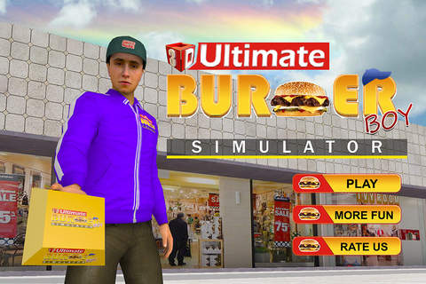 3D Ultimate Burger Boy Simulator – Motor bike ride & simulation game screenshot 1