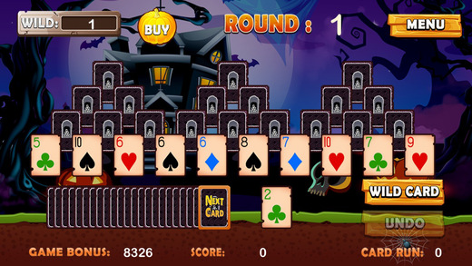 【免費遊戲App】Chilling Halloween Tri Tower Pyramid Solitaire-APP點子