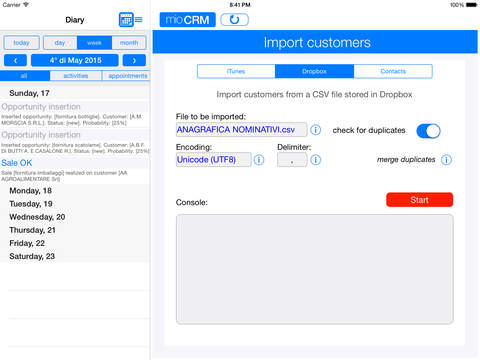 myCRM for iPad iPad Screenshot 5