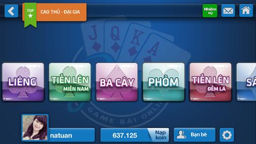 BEME - GAME BÀI VIỆT - Tiến Lên Phỏm Xâm Chương Poker