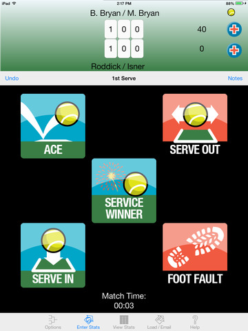 My Tennis Stats HD screenshot