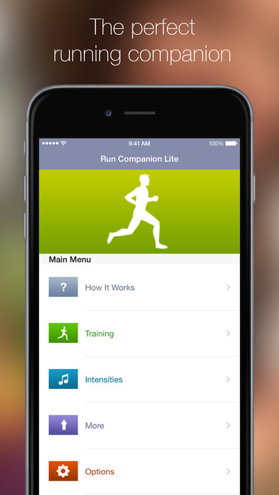 Run Companion Lite iPhone Screenshot 1