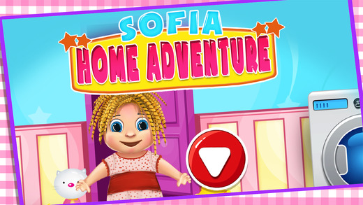 Princess Sofia Home Adventure – Laundry Puzzle Garden Flowers.