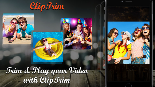 ClipTrim - Video Trimmer app to trim cut Save any selected video portion from a movie by adding back