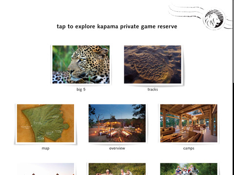 Kapama Private Game Reserve for Tablets