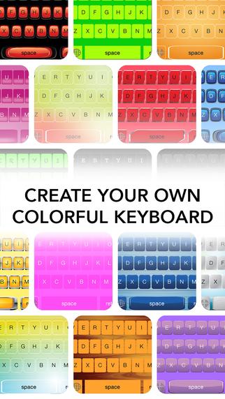 MyKeyboard - custom color keyboard skins for iOS 8