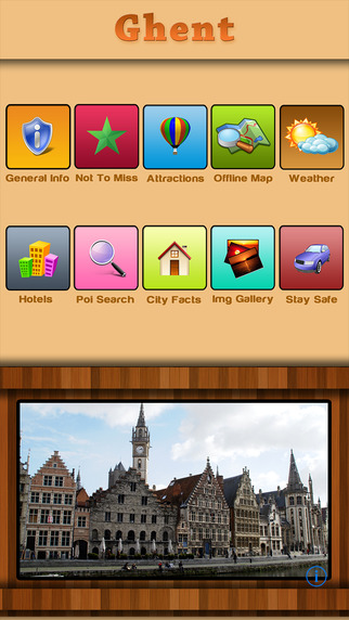 Ghent Offline Map City Guide
