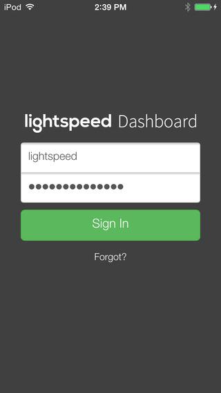 Lightspeed Dashboard