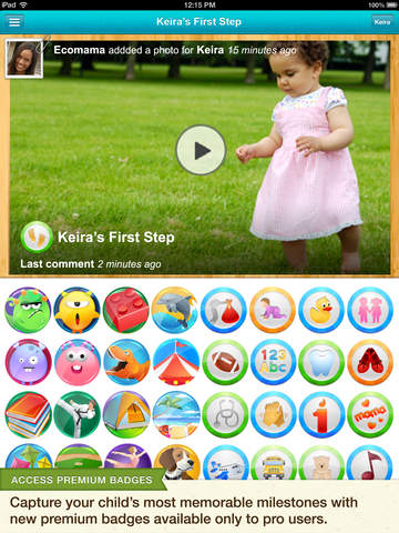 Baby Tracker & Digital Scrapbook | Kidfolio Pro with Tooth Chart screenshot