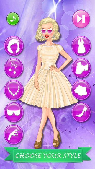 Old Style Fashion Dress Up Game Makeover For Girls And Kids App App