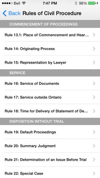 Rules of Civil Procedure Ontario